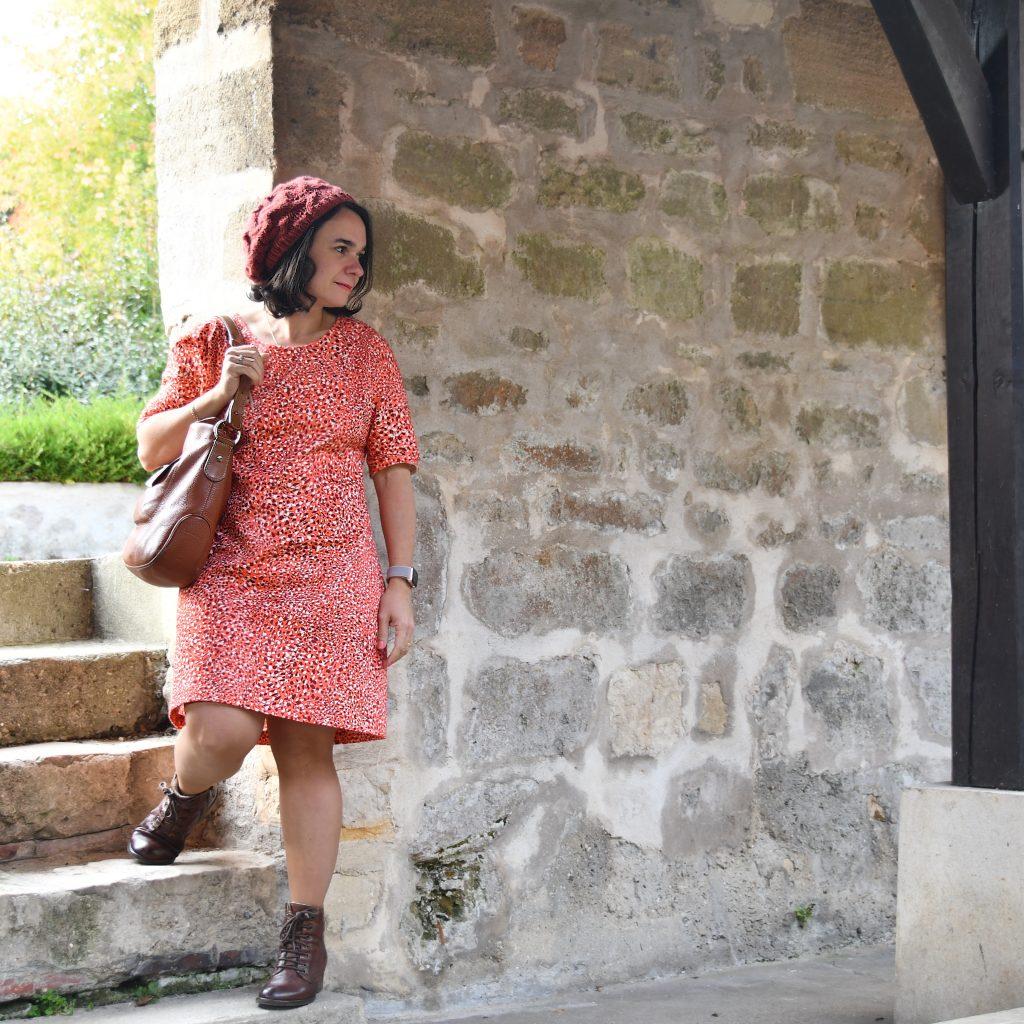 Robe Arum imprimé automne