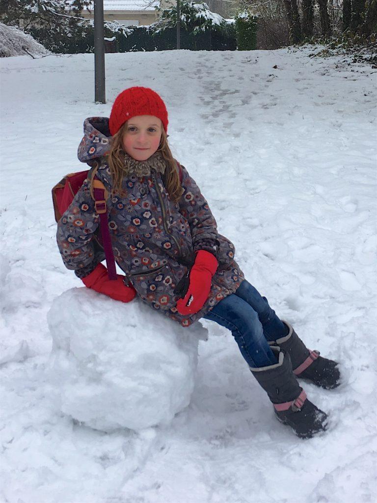 bonnet enfant cotes tricote en rond rouge