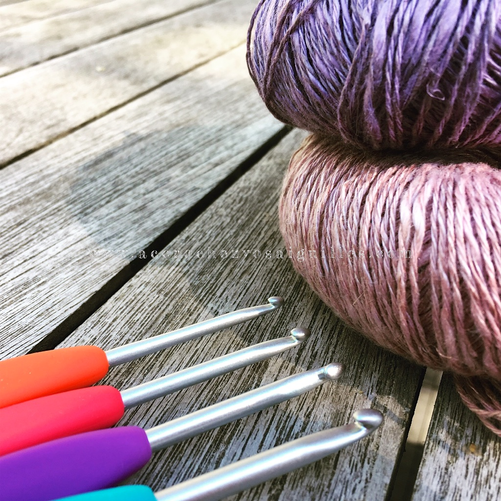 Fil en lin et crochets