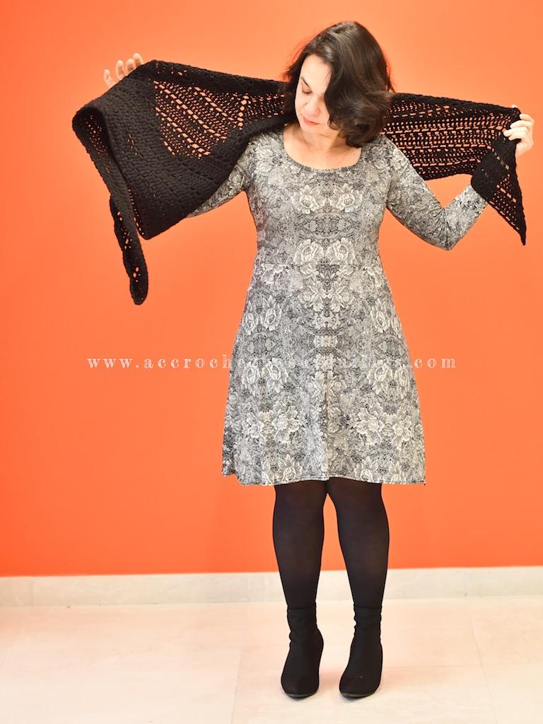 Robe Mia jersey lace et Le Chale Claudia