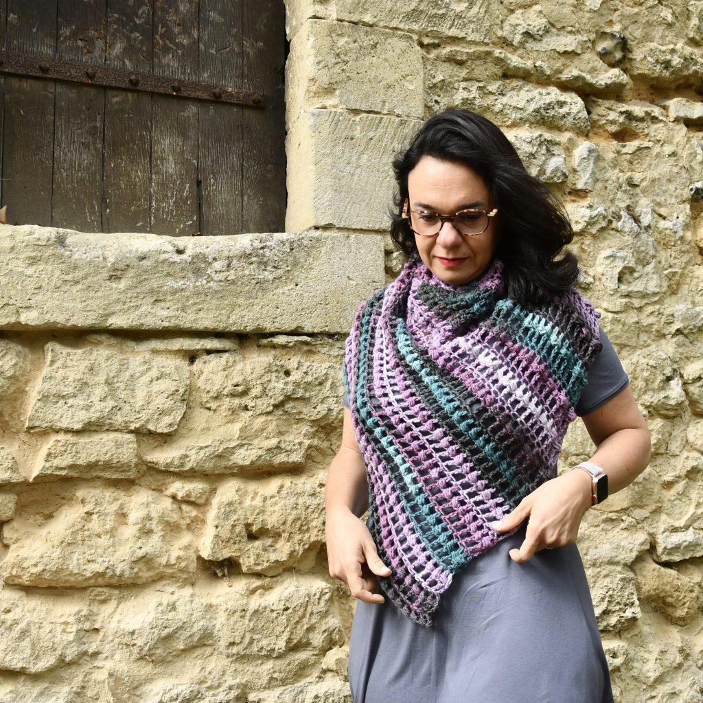 Le chale tregastel crochet DK couleurs